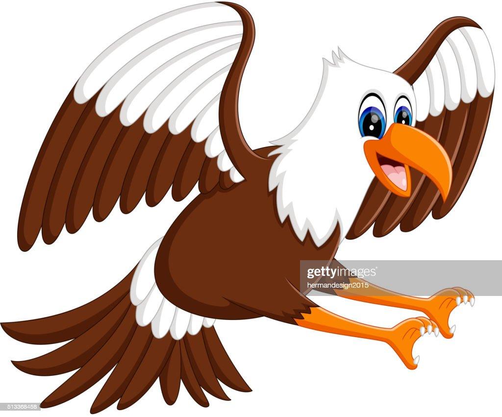 Cartoon bald eagle standing