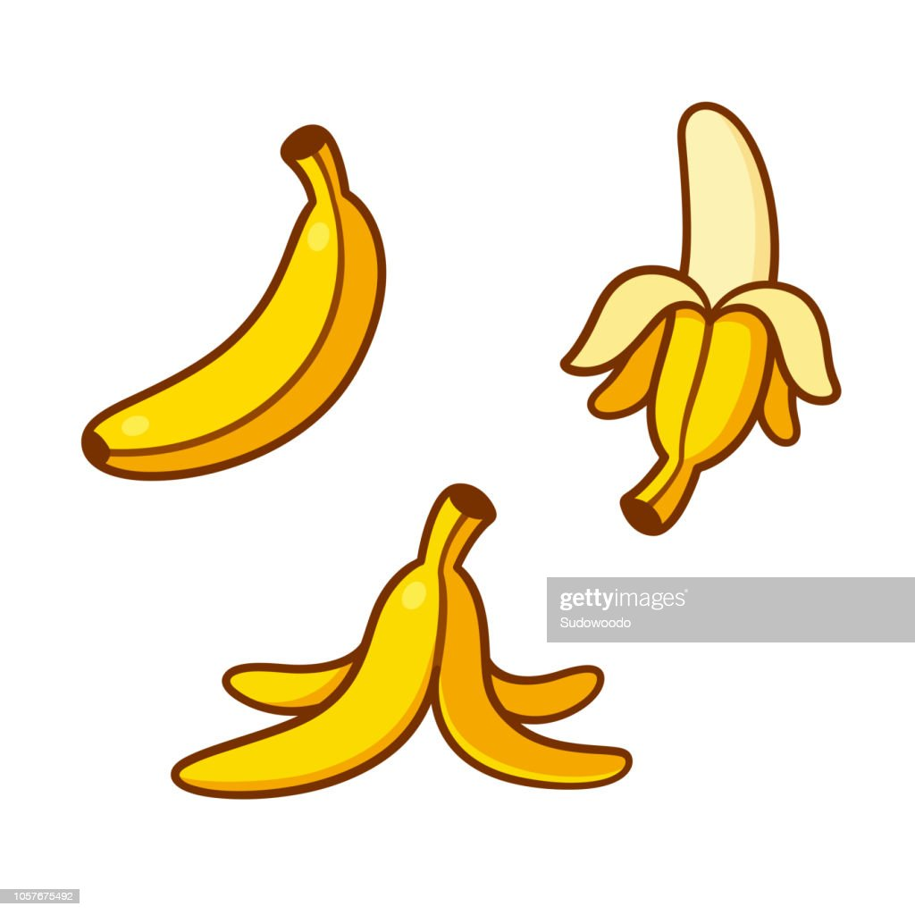 Cartoon bananas illustration set
