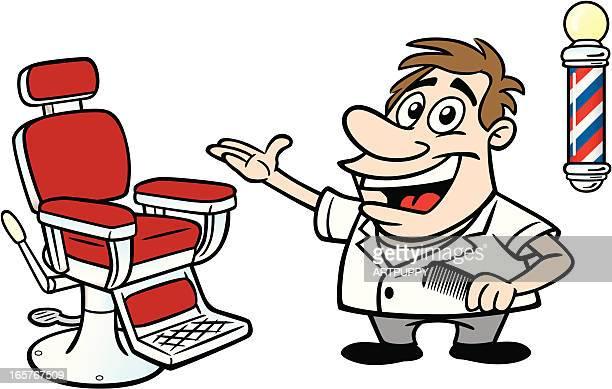 illustrations, cliparts, dessins animés et icônes de dessin de barber - coiffeur humour