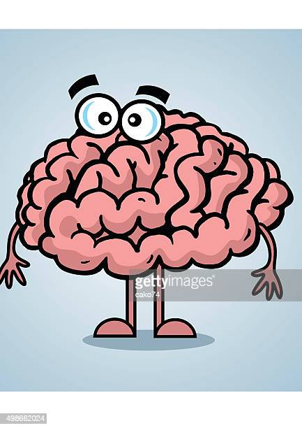 cartoon barin - frontal lobe stock illustrations, clip art, cartoons, & icons