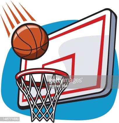 Cartoon basketball hoop stock vector getty images - Dessin basket ...