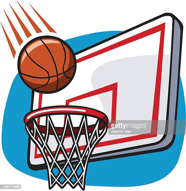 ilustraciones, imágenes clip art, dibujos animados e iconos de stock de historieta canasta de baloncesto - encestar
