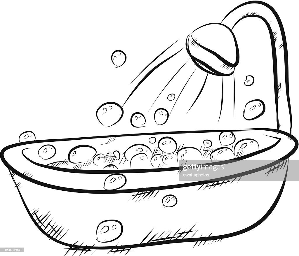 Bath Bubbles Cartoon Free Vector Graphic On Pixabay: A Cartoon Bath And Shower Full Of Bubbles Vector Art