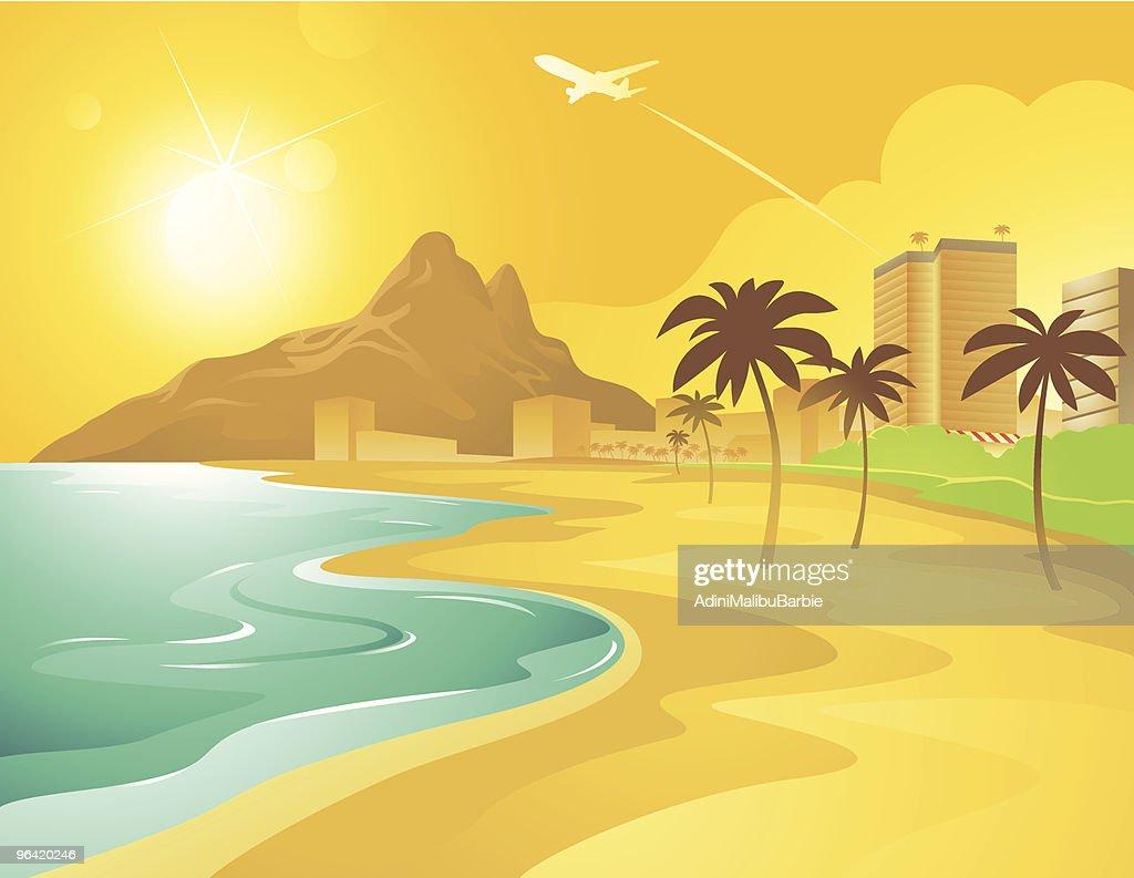 Cartoon Beach in Brazil