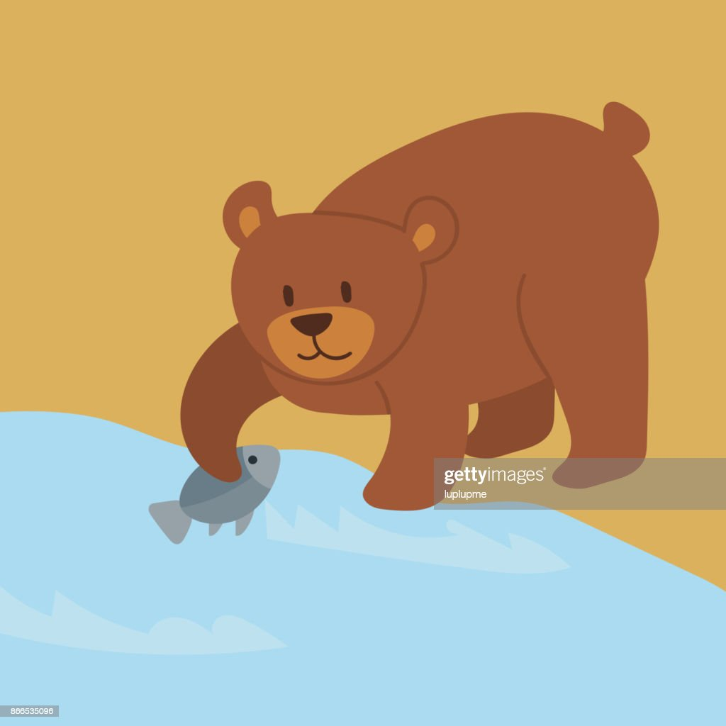 Cartoon bear character teddy pose vector background wild grizzly cute illustration adorable animal design