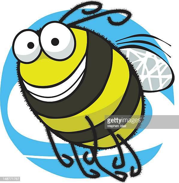 bildbanksillustrationer, clip art samt tecknat material och ikoner med cartoon bee - bumblebee