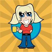 Cartoon Blonde Girl