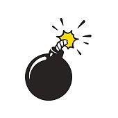 Cartoon bomb illustration