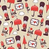 cartoon british pattern
