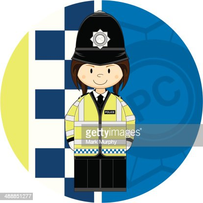 Cartoon British Police Woman High-Res Vector Graphic ...