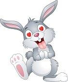 Cartoon bunny fall in love