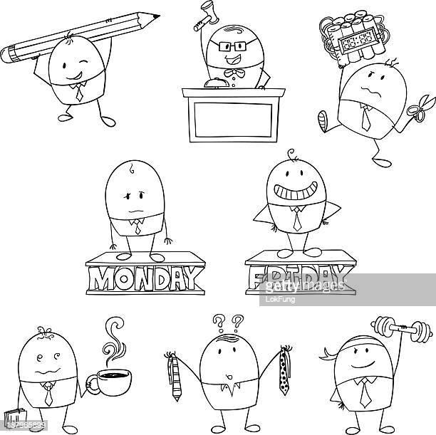 cartoon businessman illustration - friday stock illustrations, clip art, cartoons, & icons