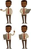 cartoon businessman in various poses