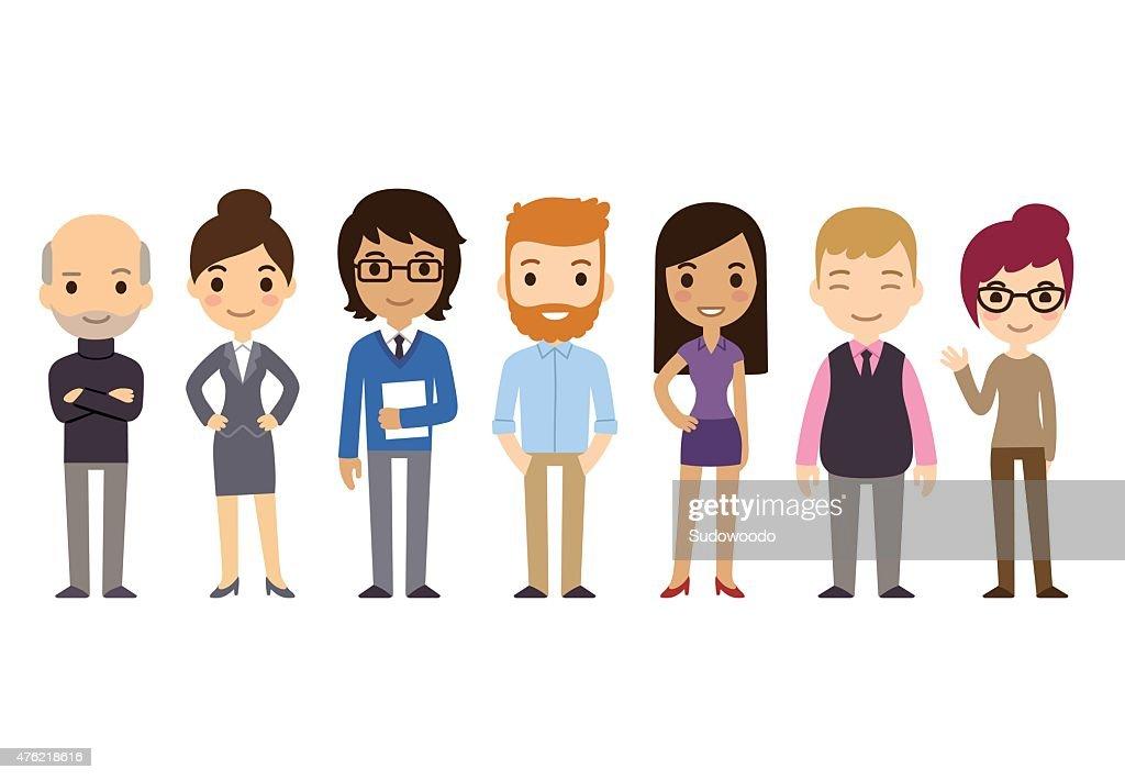 Cartoon Businesspeople