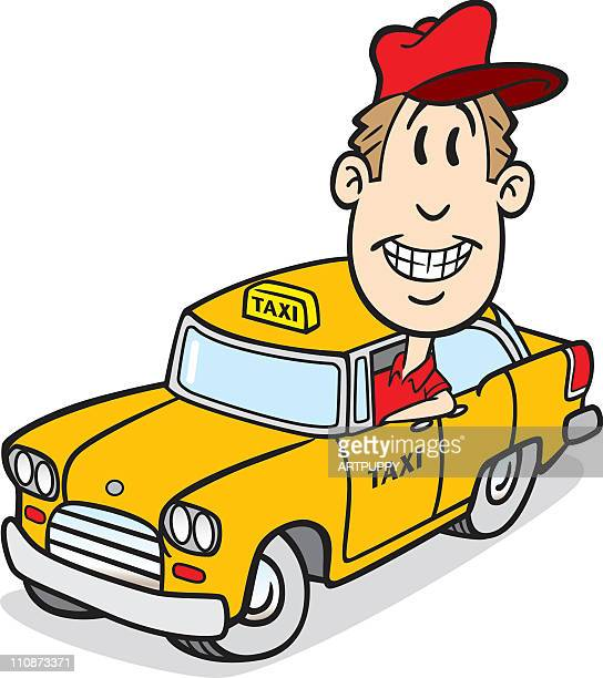 cartoon cab driver - taxi stock illustrations, clip art, cartoons, & icons