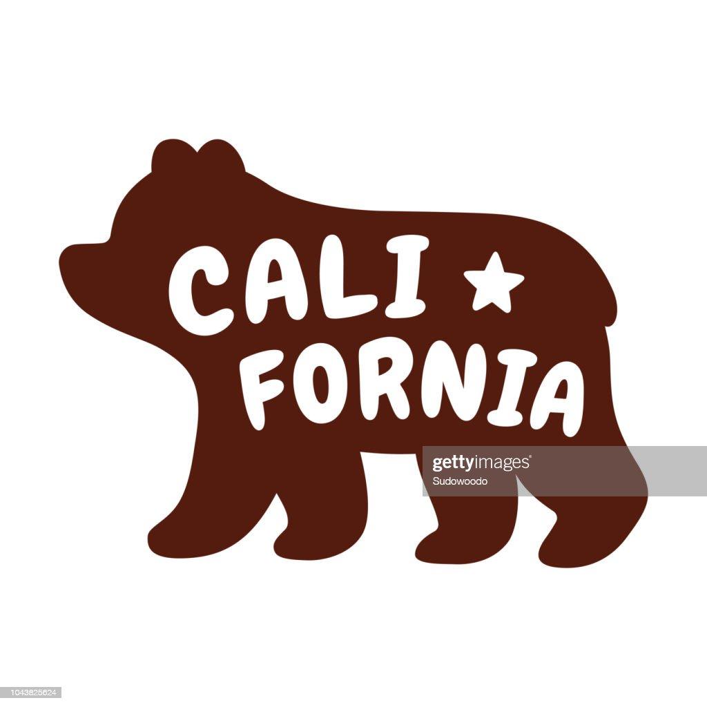 Cartoon California bear