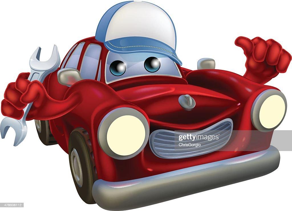 Cartoon car mechanic character
