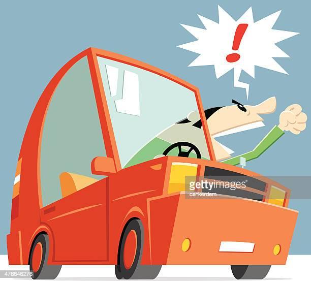 illustrations, cliparts, dessins animés et icônes de voiture de dessin animé vector - permis de conduire