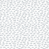 Cartoon cars seamless pattern. Transport vector black and white background.