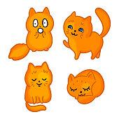 Cartoon cats stickers