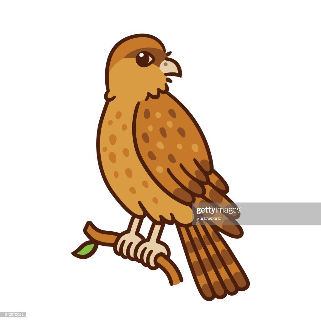 Cartoon Chimango bird