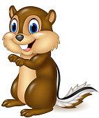 Cartoon chipmunk sitting