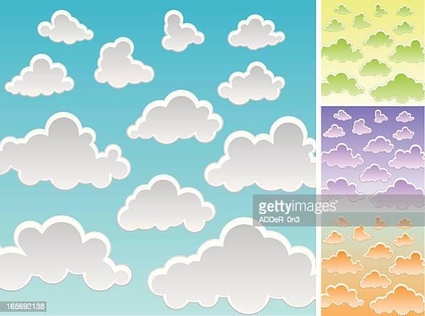 ilustraciones, imágenes clip art, dibujos animados e iconos de stock de nube de historieta - pedo