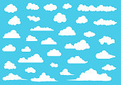 Cartoon Cloud set, vector illustration