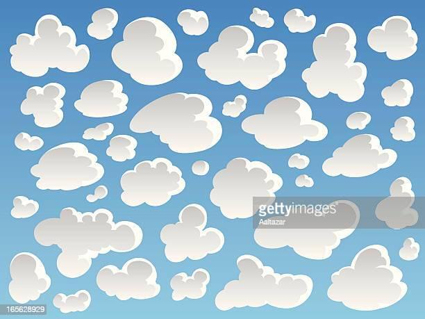 カットイラスト、雲