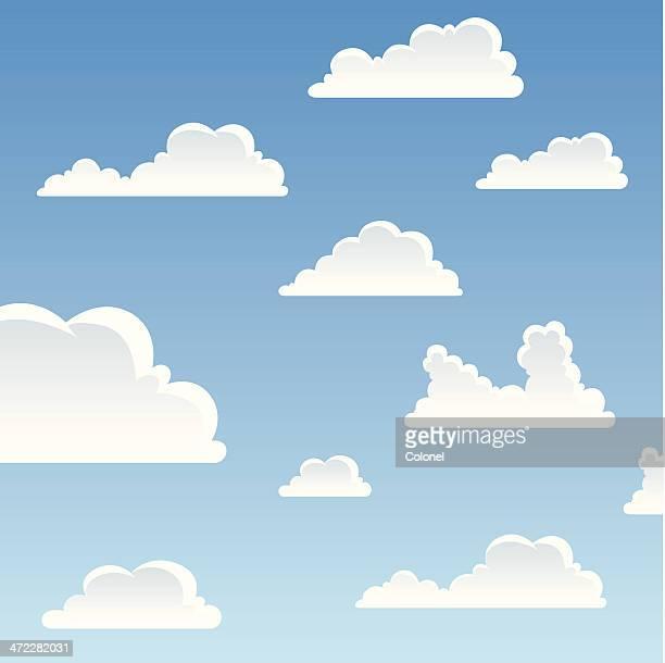 カットイラスト、雲模様