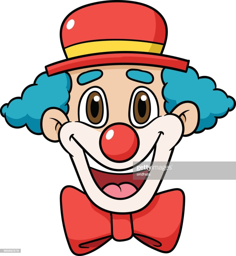 Cartoon Clown Face Vector Illustration