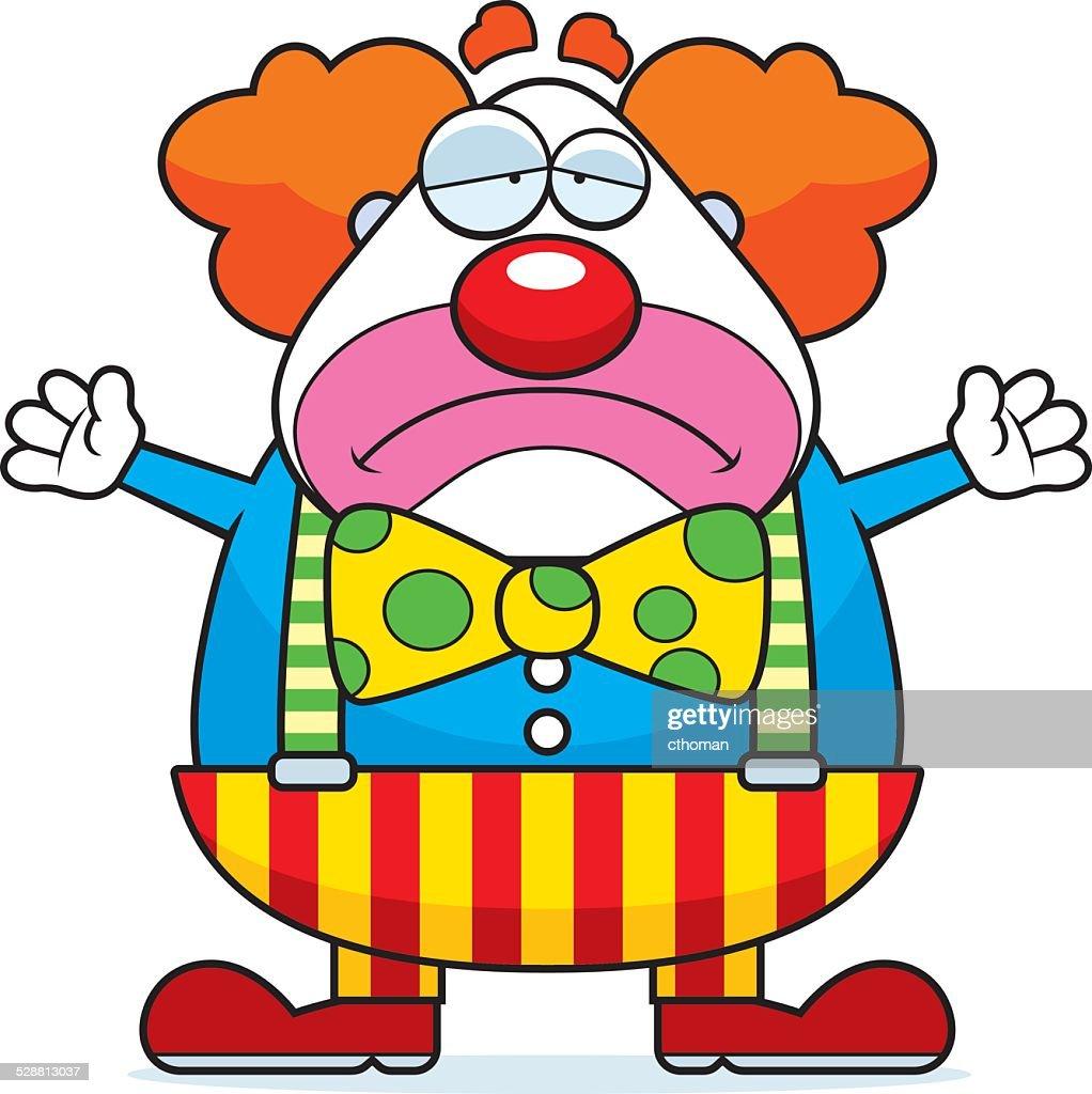 Cartoon Clown Sad