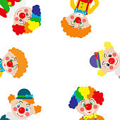 cartoon clowns. Vector illustration.