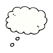 cartoon comic book thought bubble
