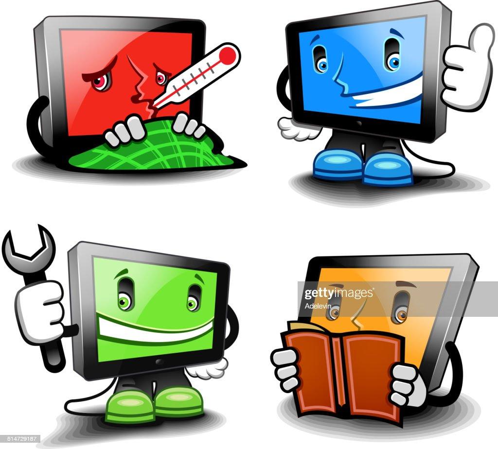 Cartoon computer set