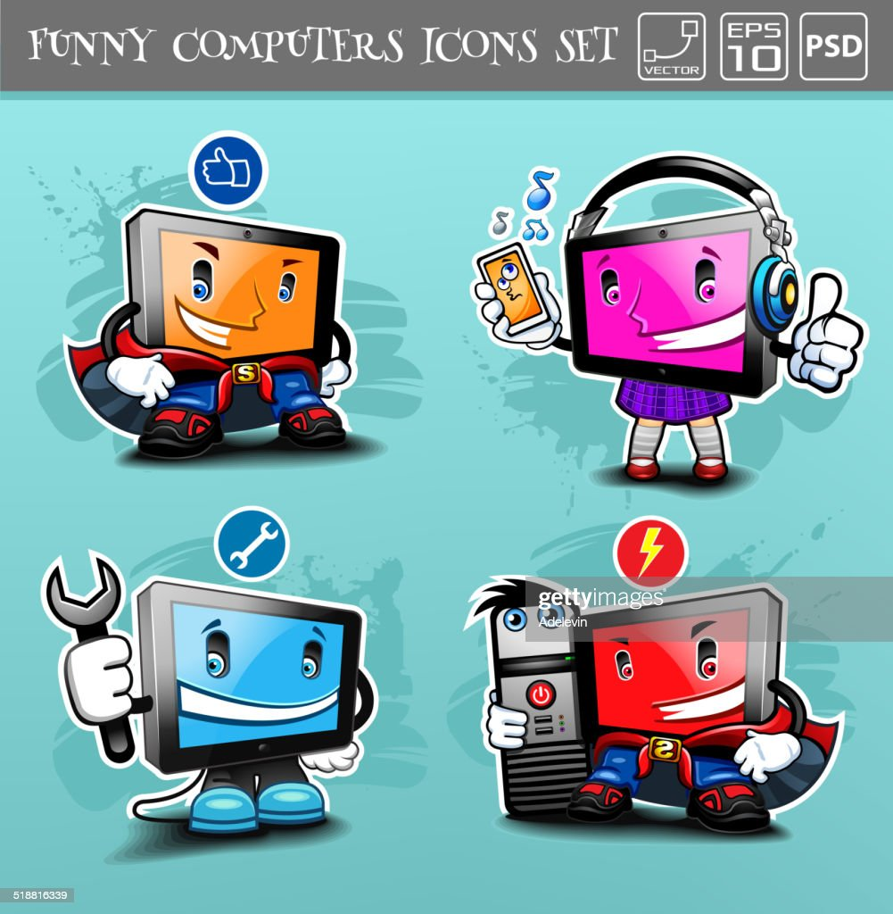 Cartoon Computers