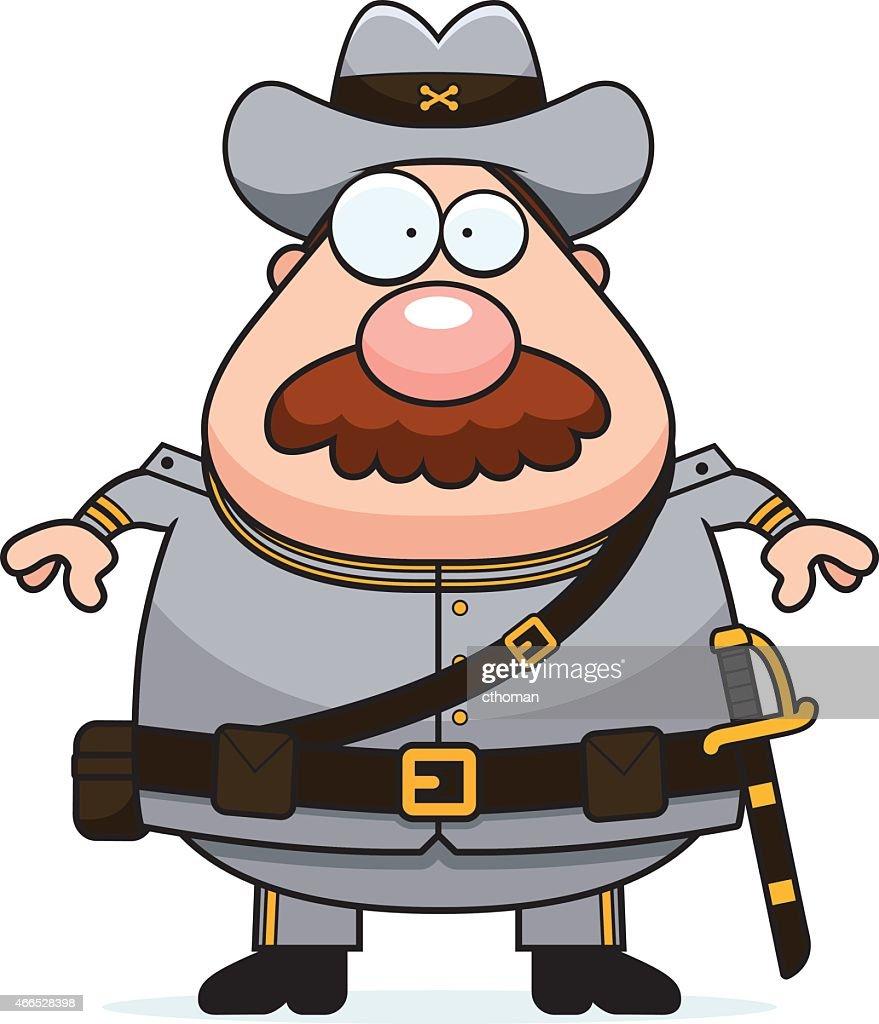 Cartoon Confederate Soldier Mustache