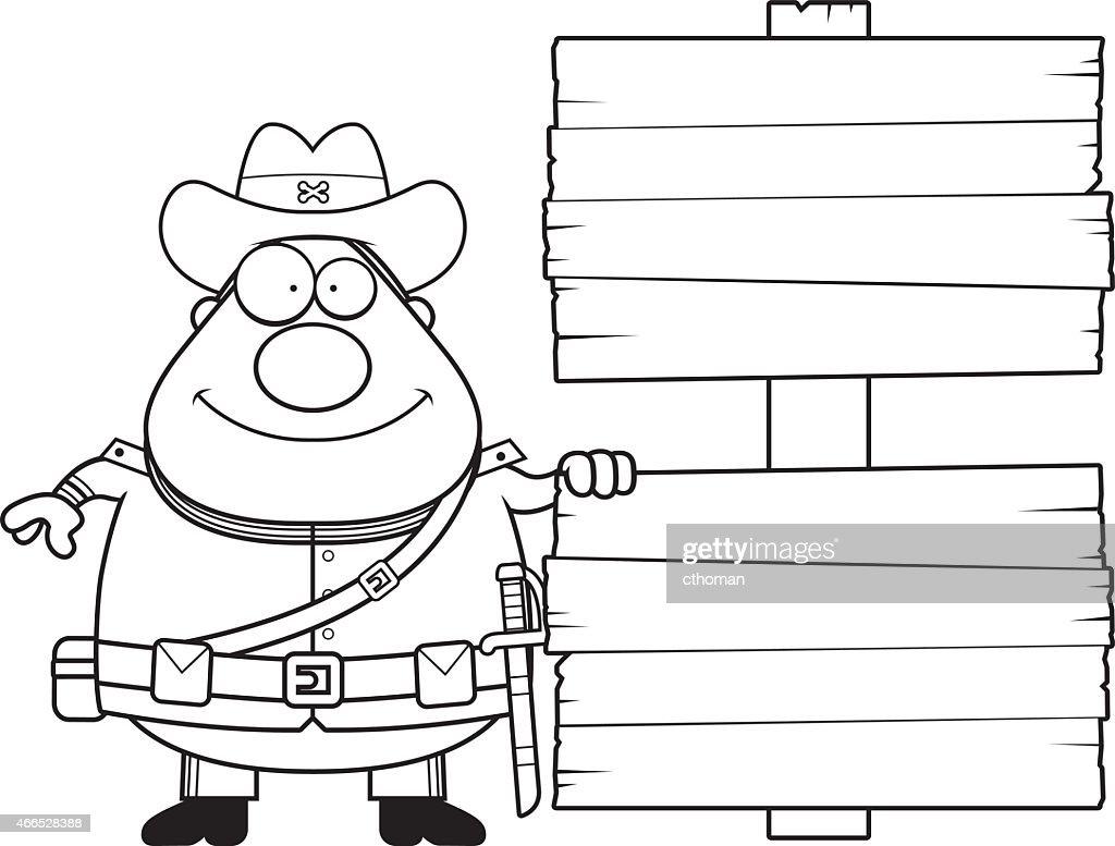 Cartoon Confederate Soldier Sign