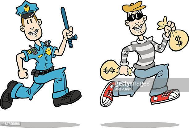 Cartoon Cop And Crook