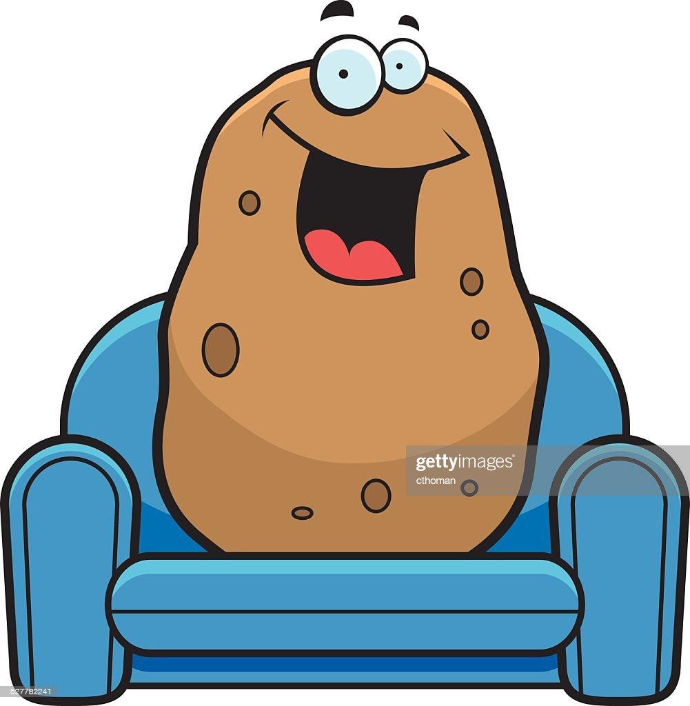 Cartoon Couch Potato