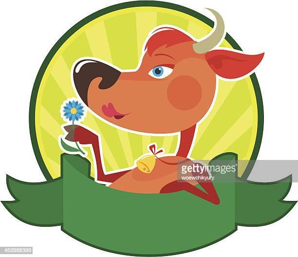 cartoon cow - calf stock illustrations, clip art, cartoons, & icons