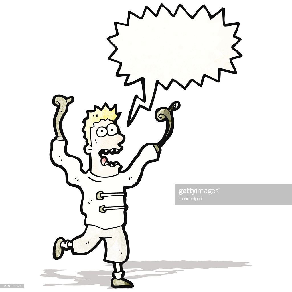 cartoon crazy man in straight jacket vector art getty images