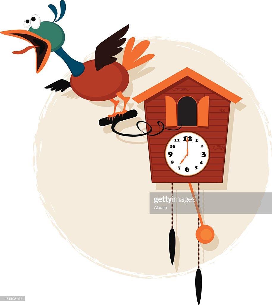 Cartoon cuckoo clock