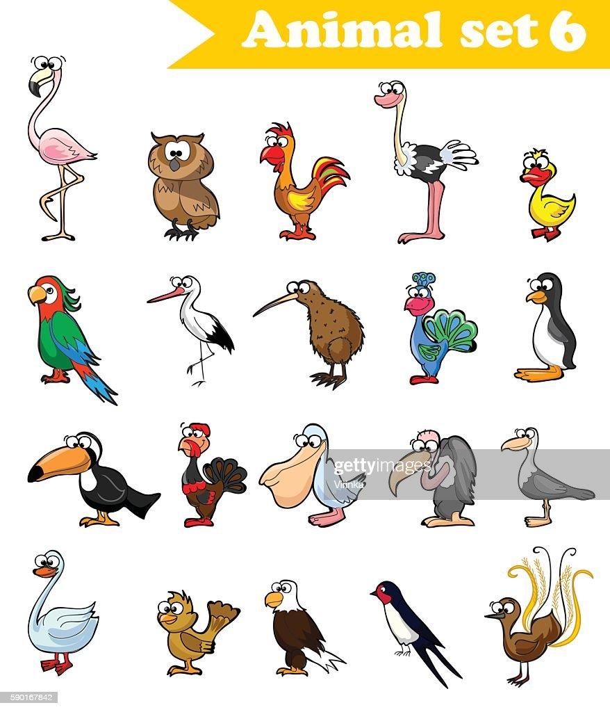 Cartoon cute birds