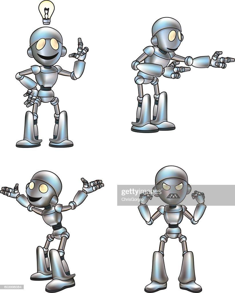 Cartoon Cute Robot Mascot