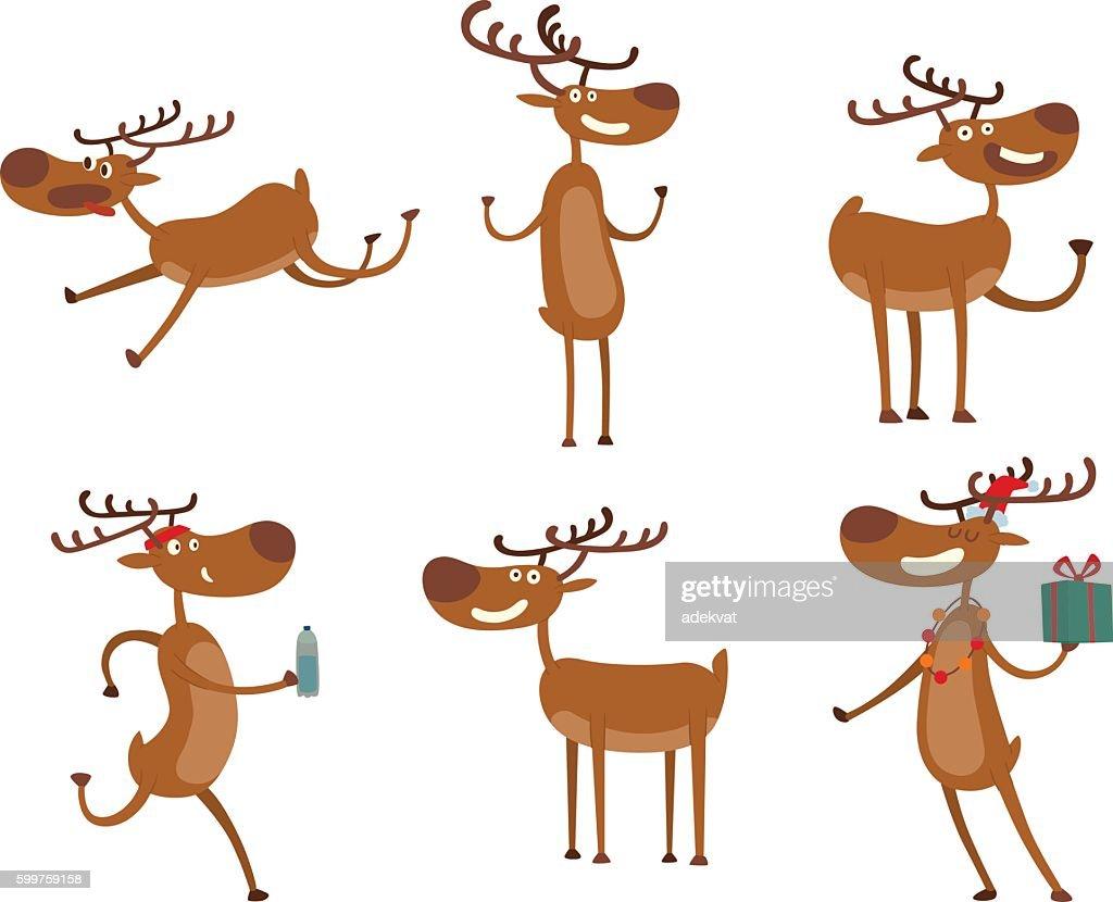 Cartoon deer vector character