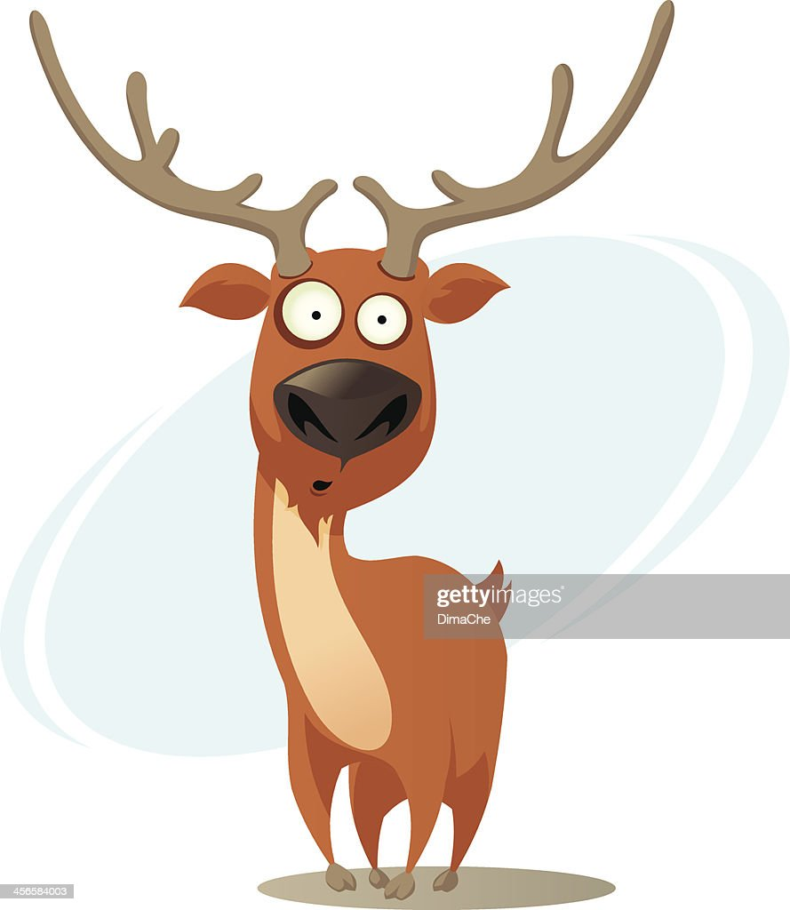 Cartoon Deer Silhouette Set. Standing And Jumping, Head With.. Royalty Free  Cliparts, Vectors, And Stock Illustration. Image 89508671.