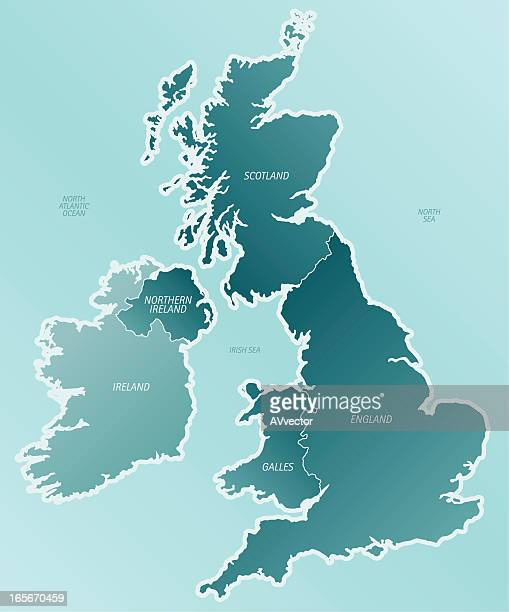 A cartoon depiction of a map of the United Kingdom