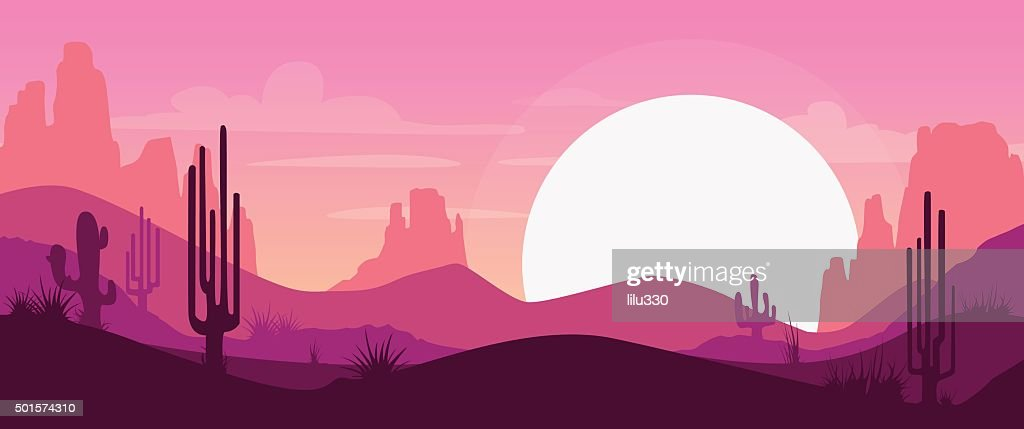 Cartoon desert landscape