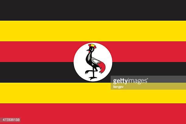 cartoon design of the flag of uganda - uganda stock illustrations, clip art, cartoons, & icons